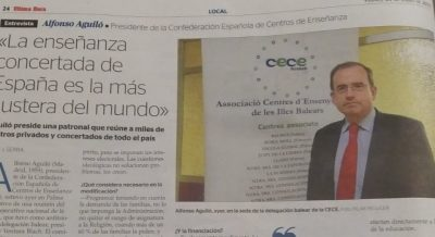 Entrevista al presidente CECE nacional Alfonso Aguiló en Ultima Hora