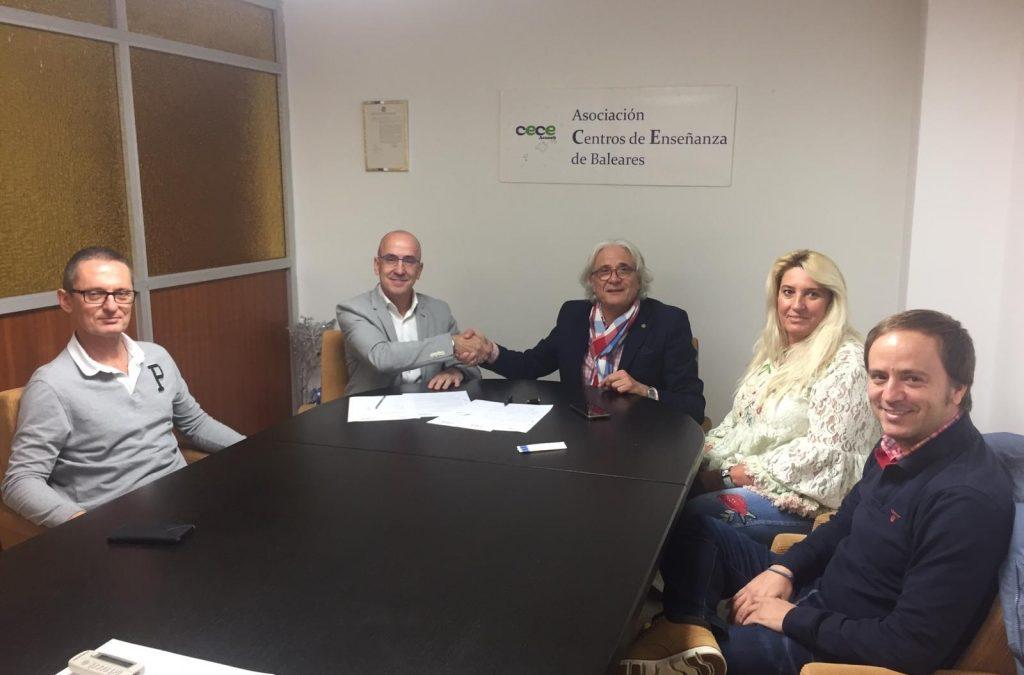 Dia 29 d'octubre CECEIB Aceneb ha signat un conveni de col·laboració amb CRECE Formació.