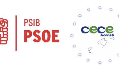 Reunión día 5 de febrero entre PSIB-PSOE y CECEIB para conocer las propuestas educativas de este partido cara a las próximas elecciones autonómicas.