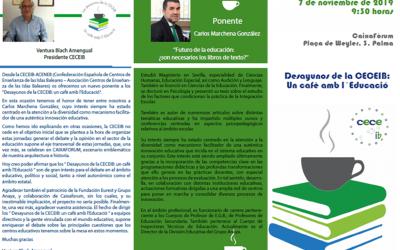 DESAYUNOS DE LA CECEIB:  Un Cafè amb l'Educació