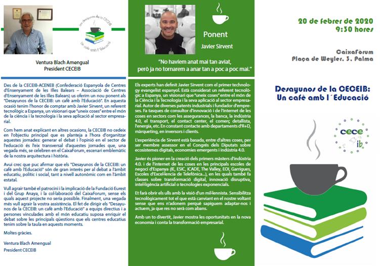 XI DESAYUNOS CECEIB: Un cafè amb l'Educació.