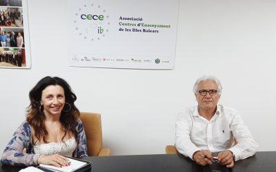 El Presidente de la CECEIB Ventura Blach se reúne con la Directora de la UNED Judit Vega