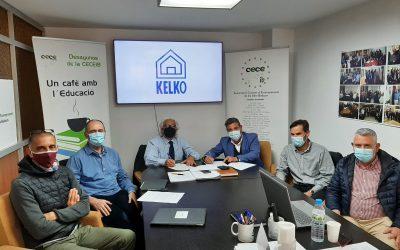 Firma de convenio entre CECEIB y KELKO