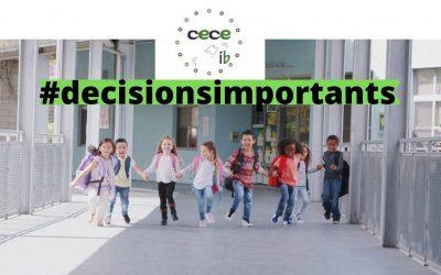 ESCOLARITZACIÓ 2021 – DECISIONS IMPORTANTS