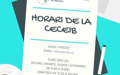 HORARI CECEIB